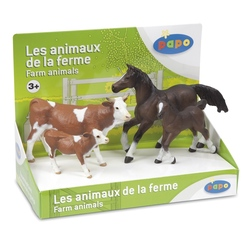 Set figurine Papo animale ferma (vaci, cai)