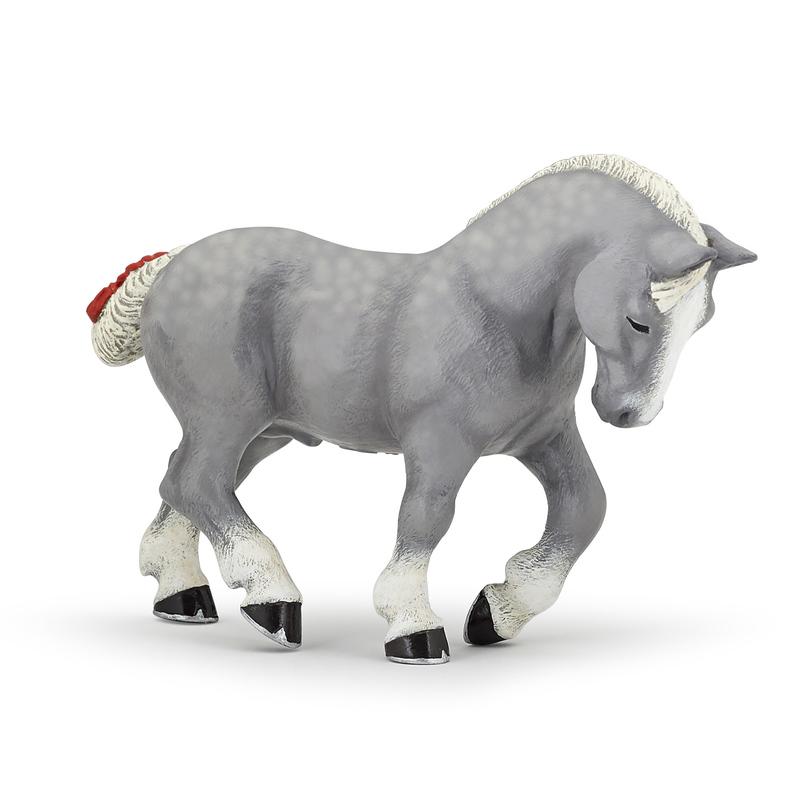 Figurina Papo-Cal Percheron gri