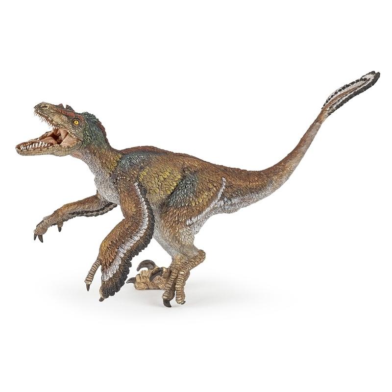 Figurina Papo-Dinozaur Velociraptor cu pene