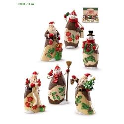 Set 6 figurine Om de Zapada / Mos Craciun