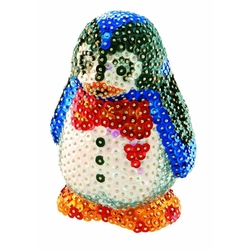 Sequin art 3D - set creativ Pinguin