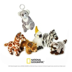 Jucarie din plus National Geographic Port chei papagal-girafa-urs-zebra-koala-raton