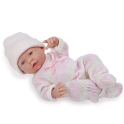 Bebelus nou nascut baiat in costumas alb-roz