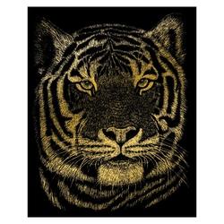 Gravura aurie-Cap de tigru 21x30 cm