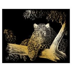 Gravura aurie-Ghepard la panda 21x30 cm