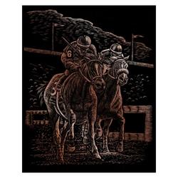 Gravura cupru-Cai de cursa 21x30 cm