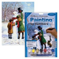 Prima pictura pe nr jr mic-Omul de zapada 24x33 cm