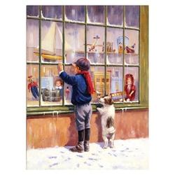 Prima pictura pe numere junior mica - Vitrina cu jucarii