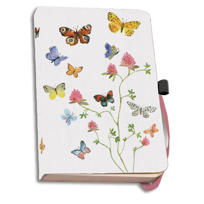 Agenda coperti textile A6 Flowers, Butterflies and Birds, Alice Appleton