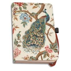 Agenda coperti textile A6 The Magnificent Peacock