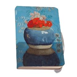 Agenda A5 Rode geraniums in een blauwe pot, Voerman