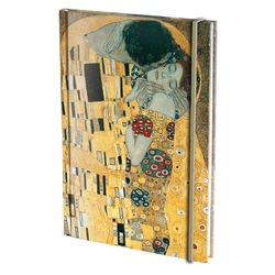 Agenda nedatata cu coperti tari si elastic A5 De Kus, Gustav Klimt