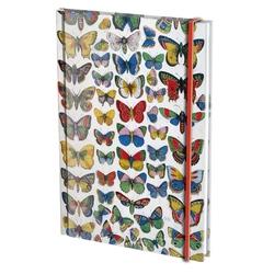 Agenda nedatata cu coperti tari si elastic A5 Plaat met vlinders