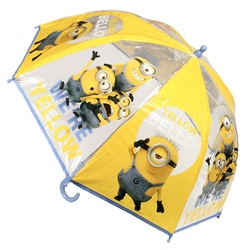 Umbrela transparenta copii - Minions We're Yellow