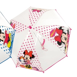 Umbrela manuala cupola (2 modele) - Minnie si Mickey