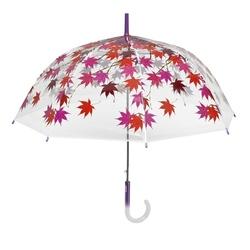 Umbrela transparenta automata baston (2 modele frunze) - Perletti