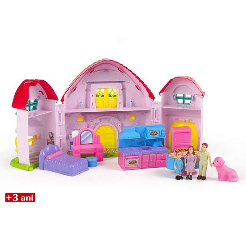 Casa de papusi cu familie CBToys