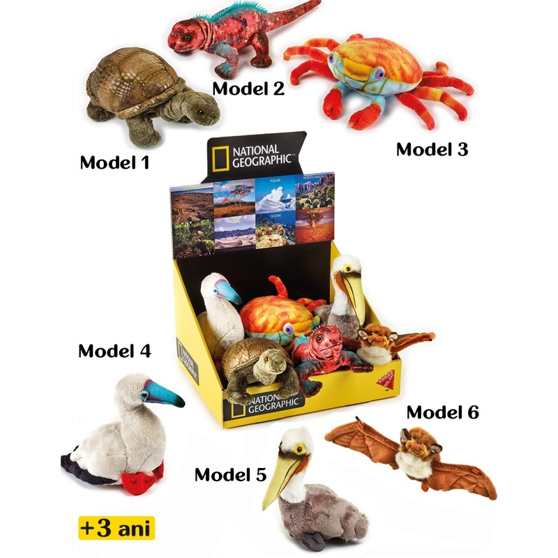 Jucarie din plus National Geographic Pui de animale Galapagos 17 cm