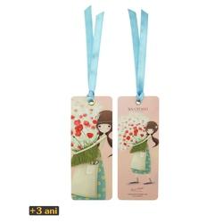 Kori Kumi Semn carte cu panglica Pretty as a Flower