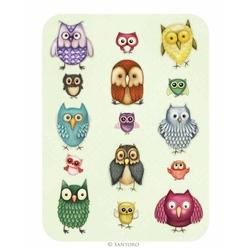 Felicitare Eclectic - Owl Family