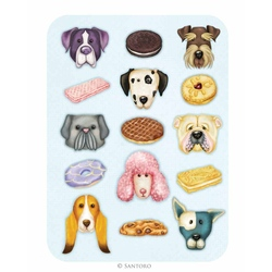 Felicitare Eclectic - Dog Biscuits