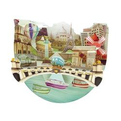 Felicitare 3D PopnRock - Paris
