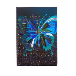Agenda A5 embosata auriu Fluturele floare