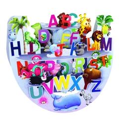 Felicitare 3D PopnRock - A la Z - o felicitare alfabet,  3D, cu elemente mobile,  ca copilul tau sa invete  mult mai repede.