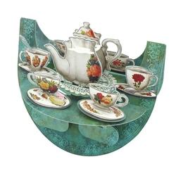 Felicitare 3D PopnRock - Set de ceai
