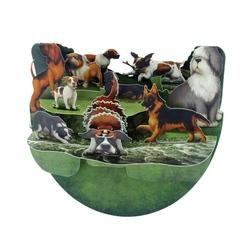 Felicitare 3D PopnRock - Rase de caini - o felicitare 3D, cu camp pentru text destinata iubitorilor de animale canine.