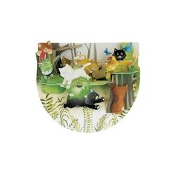 Felicitare 3D PopnRock - Pisici in padure. O felicitare 3D draguta perfecta pentru copii si adulti!