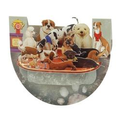 Felicitare 3D PopnRock - Concurs canin - o felicitare dedicata iubitorilor de animale.