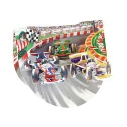 Felicitare 3D PopnRock - Cursa Formula 1 o felicitare 3D pentru pasionatii de Formula 1
