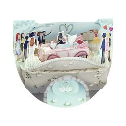 Felicitare 3D PopnRock - Masina de nunta