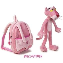 Rucsac si jucarie din plus pantera roz 25-35 cm