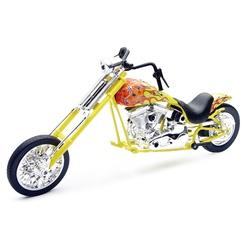 Motocicleta diecast tip Chopper, 2 modele asortate