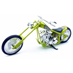 Motocicleta diecast tip Chopper, auriu
