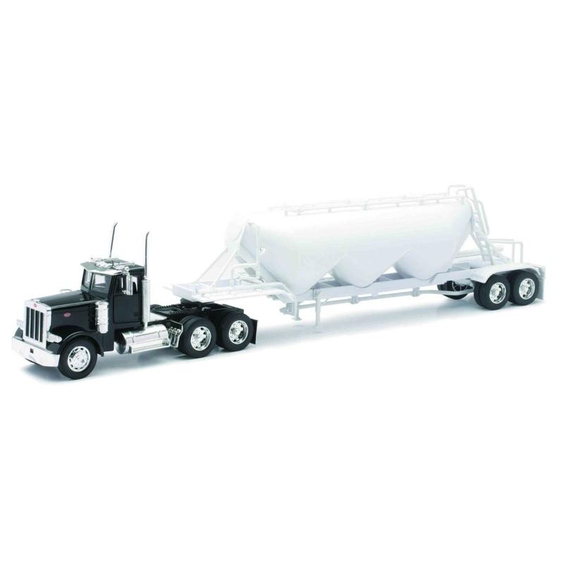Camion diecast Peterbilt 379 cu trailer pentru marfa vrac