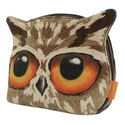 Portofel brodat mare Book Owls