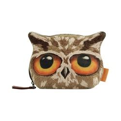 Portofel brodat mic Book Owls