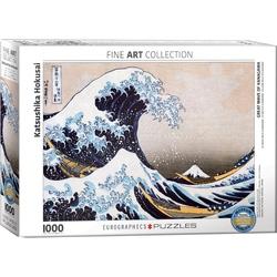 Puzzle 1000 piese Marele Val din Kanagawa de Katzushika Hokusai