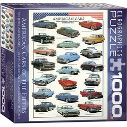 Puzzle 1000 piese Masini Americane din 1950