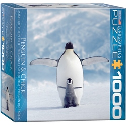 Puzzle 1000 piese Penguin & Chick