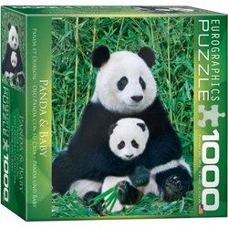 Puzzle 1000 piese Panda and Baby