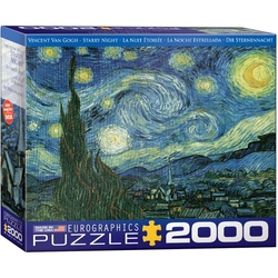 Puzzle 2000 piese Starry Night-Vincent van Gogh