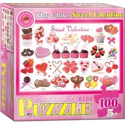 Puzzle 100 piese Sweet Valentine