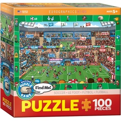 Puzzle 100 piese Spot & Find Soccer