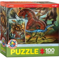 Puzzle 100 piese Carnivorous Dinosaurs