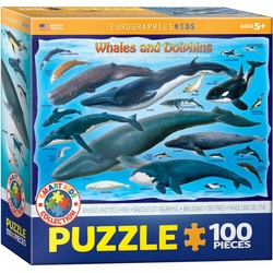 Puzzle 100 piese Whales and Dolphins