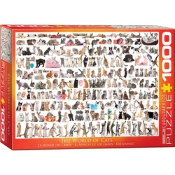 Puzzle 1000 piese The World of Cats